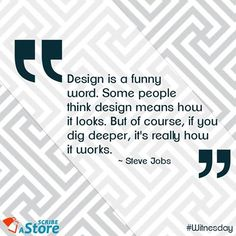 Here is Steve Jobs's philosophy on ‪#‎Design‬. ‪#‎WednesdayWisdom‬ ‪#‎Witnesday‬