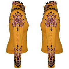 Goldenrod, Black and Purple Western Show Shirt (S) – Lisa Nelle Western Show Shirts, Show Jackets, Printed Blazer, Westerns, Lisa, Fancy, Couture, Purple, How To Wear