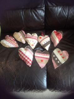 Shabby chic hearts, I think I would like to start selling these.