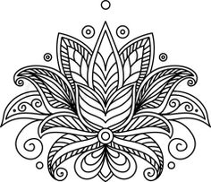 Vector of 'Turkish or persian paisley floral design element in outline style for ornate' on Colourbox