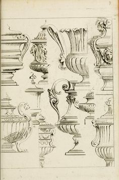 Livre de fragments d'architectures, Architectural fragments book of etchings and sketches Historical Architecture, Ancient Architecture, Architecture Details, Classical Architecture, Monuments, Drawing Sketches, Drawings, Oldschool, Architectural Elements