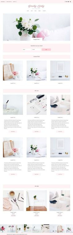 Pretty Girly WordPress Theme by Pretty Web Design on @creativemarket