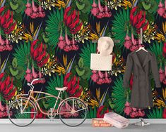 Upgrade your walls with this elegant Tropic Wallpaper Mural adding an exclusive touch to your personal style and surprise your family and friends. Temporary Wallpaper, New Wallpaper, Fabric Wallpaper, Simple Addition, Self Adhesive Wallpaper, Tropical Decor, Tropical Leaves, Cool Patterns, Textured Walls