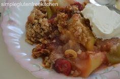 Gluten Free Food: Cranberry Apple Crisp