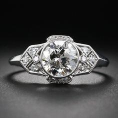 1.47 Carat Late Art Deco Diamond Ring - 10-1-5751 - Lang Antiques