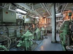✔★Container Ship Engine room★✔ [HD]