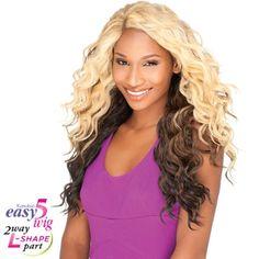 """Sensationnel Empress Cut & Blend """"L"""" Part Lace Front Wig - Easy-5 FINGER"""