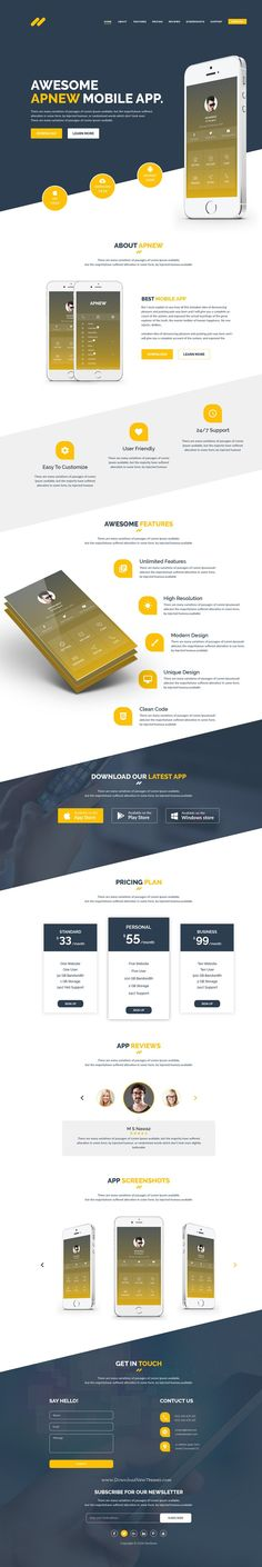 ApNew is a One Page #PSD #Template for #app marketing websites.