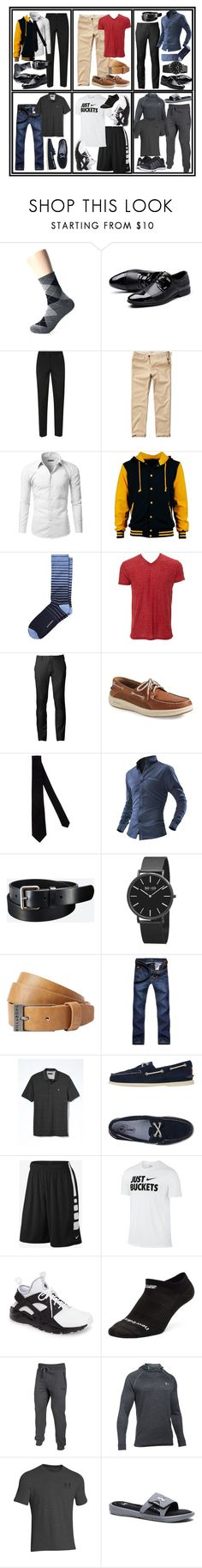 """""""Classic style for men"""" by a-gauche ❤ liked on Polyvore featuring Topman, Hollister Co., Doublju, Banana Republic, Simplex Apparel, Chor, Sperry, Armani Collezioni, Uniqlo and SO & CO"""