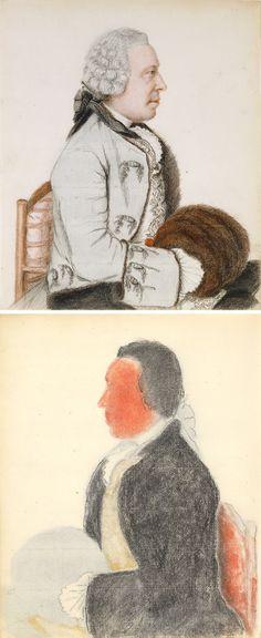 Portrait of Charles-Benjamin de Langes de Montmirail, Baron de Lubières, Jean-Étienne Liotard, about 1760, front and back Getty Museum, Art For Art Sake, Grand Tour, French Art, Painters, 18th Century, Art History, American History, Sketching