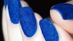 Eloise Dreyer Beauty: Maskscara Monday Part I: Velvet Nails Blue Nails, My Nails, Velvet Nails, Manicure, Nail Store, Indian Hairstyles, Nail Art Kit, Types Of Nails, Beauty Art