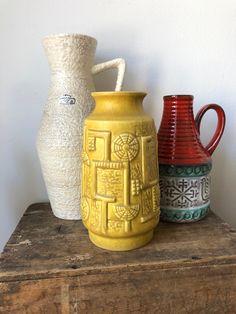 White Beige, Pottery Vase, Midcentury Modern, Lava, German, My Etsy Shop, Mid Century, Ceramics, Vintage