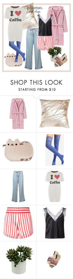 """""""#21 PJs All Day. Stripes"""" by natahaya on Polyvore featuring мода, Joules, Gund, Morgan Lane, Topshop, Fleur du Mal, Stance, contest, stripes и pajamas"""