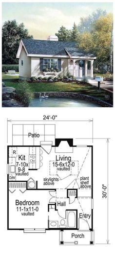 #cottage #house plans #tiny home #house plan ideas http://smallhousediy.com/