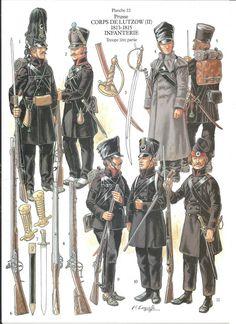 Prusse - corps de Lutzow - infanterie, by Patrice Courcelle.