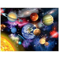 Space Planets DIY Painting By Numbers Kit Our Galaxy Coloring By Numbers for Kids Adults Universe Paint By Number Modern Home Decor Wall Art Diamond Drawing, 5d Diamond Painting, Diamond Art, Galaxy Painting, Galaxy Art, Diy Painting, Galaxy Space, Space Painting, Painting Canvas