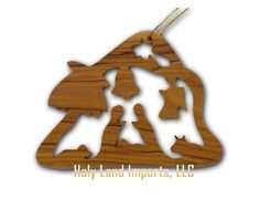 """$6.00 Olive Wood Christmas House Ornament (3""""H) - Christmas House. Add a special touch to your Holiday Season this year with Olive Wood Ornaments. This unique design was exclusively hand carved in Bethlehem, the Holy Land using a scroll saw. Comes with a golden string (ready to hang) and an explanation card. http://www.amazon.com/dp/B000B8PWWW/?tag=pin2wine-20"""