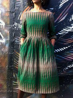 Emery Dress - Nkrumah's pencil* Wax print fabric