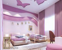 Some Of Sweet Girls Room On Behance In 2020 Childrens Bedrooms Design House Ceiling Design Ceiling Design Bedroom