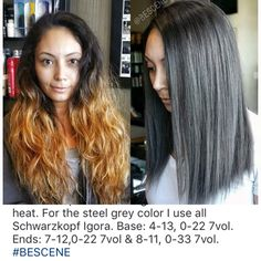 How to Prevent Grey Hair. Vitamins and Supplements that Reverse The Onset of Gray Hair. Natural Remedies to get Your Natural Hair Color Back. Violet Brown Hair, Dark Grey Hair, Vintage Hairstyles, Diy Hairstyles, Igora Hair Color, Grey Hair Reversal, Schwarzkopf Igora, Schwarzkopf Color, Grey Hair Treatment