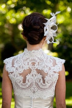 French Alencon Lace Wedding Bolero by AlisaBenay on Etsy, $175.00