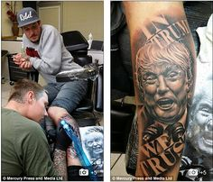 Welcome to Oma Trendz : A Believer Of Donald Trump Tattooed Himself With H...