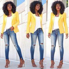 Blazer amarelo lindo