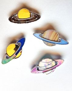 Saturn Planet Stained glass brooch Astronomy gifts Planet pin Astronomy jewelry Space Jewelry - Space and Astronomy Stain Glass Cross, Stained Glass Paint, Stained Glass Suncatchers, Stained Glass Designs, Stained Glass Projects, Stained Glass Patterns, Space Jewelry, Glass Jewelry, Glass Beads
