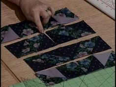 Morning Glory Quilt Pattern by Kaye Wood. how to cut the strips, etc. Block design starts around 11:00