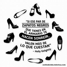 Si ese par de zapatos negros.... #Frase #Moda #EstiloDeVida #Tendencia