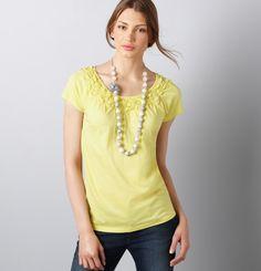 feminine yellow top $29.50
