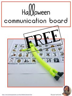 AAC users need to have fun on Halloween, too. Help them participate in any Halloween activity with this communication board, which is core word based with important fringe vocabulary. Use it with modeling for a big impact. Use in therapy and send home. Speech Language Therapy, Speech Therapy Activities, Language Activities, Speech And Language, Speech Pathology, Communication Development, Language Development, Communication Boards, Resource Room Teacher