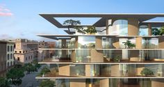 MAD architects transforms urban block in rome with green residences - designboom | architecture