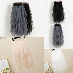 High Waist Tulle Midi Skirt  Perfect for Fantasy Cosplay or Everyday Goth High Waist Mid Calf Floating Tulle In Dramatic Black, Angelic White, Soft Beige, Sharp Gray or Pretty Pink  Come and Visit our site: workingwhatnot.com/ Everyday Goth, Beige, Gray, Pretty In Pink, High Waist, Midi Skirt, Tulle, Cosplay, Fantasy