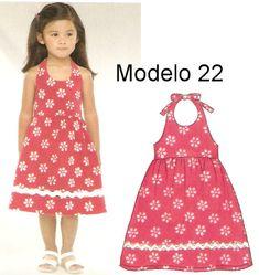 Molde para Vestido Infantil                                                                                                                                                     Mais