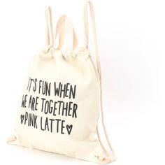 【セール】帆布巾着リュック(PINK latte [ピンクラテ] のリュック)
