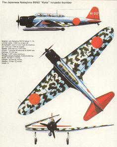 "Nakajima B5N2 ""Kate"" Torpedo-Bomber (Japan) - Illustrated World War II Encyclopedia (1978)"