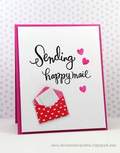 Sending Happy Mail by Cheiron Brandon for the Simon Says Stamp Wednesday challenge (For a Special Lady/Girly)