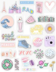 "Stickers - handy -Pastel Stickers - handy - ""Aesthetic Stickers Stickers by lordwatermelon Homemade Stickers, Diy Stickers, Printable Stickers, Planner Stickers, Sticker Ideas, Tumblr Stickers, Phone Stickers, Kawaii Stickers, Aesthetic Iphone Wallpaper"