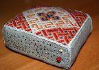 German Brick Stitch Pin Cushion
