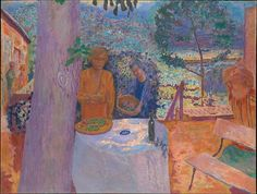 The Terrace at Vernonnet Artist: Pierre Bonnard (French, Fontenay-aux-Roses 1867–1947 Le Cannet) Date: 1939 Medium: Oil on canvas Dimensions: 58 1/4 x 76 3/4 in. (148 x 194.9 cm)