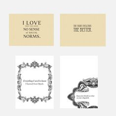Random Girl Talk Cards 4 Pack now featured on Fab.