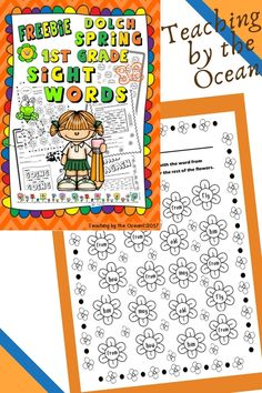 Fry Sight Words, First Grade Sight Words, Help Teaching, Teaching Resources, Ocean Words, Sight Word Activities, Free Education, My Spring, Word Work