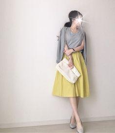 【coordinate】今年の夏チャレンジしたいカラースカート|Umy's プチプラmixで大人のキレイめファッション