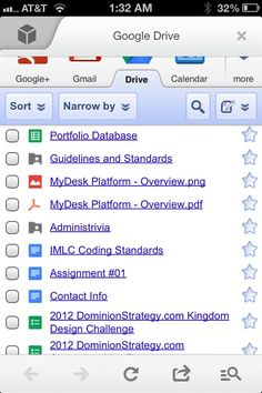Mobile Google Docs UI