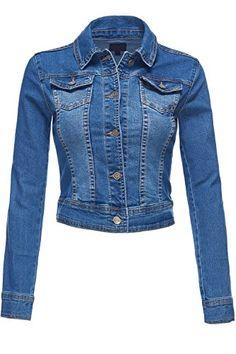 Slim Fit Modern Classic Trucker Blue Denim Jackets. (YFJ8) Luna Flower http://www.amazon.com/dp/B017WS8URM/ref=cm_sw_r_pi_dp_xae7wb0SE631R