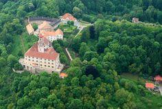 Náchod from air European Countries, Czech Republic, Prague, Mansions, House Styles, Bohemia, Manor Houses, Villas, Mansion