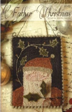 WITH THY NEEDLE & Thread Father Christmas  by NeedleCaseGoodies