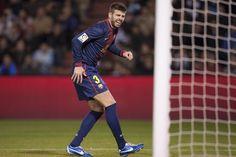 Gerard Piqué notó unas molestias tras el gol de #Messi.
