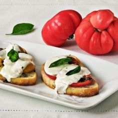 A little twist on my favorite Caprese salad that makes a perfect light dinner.